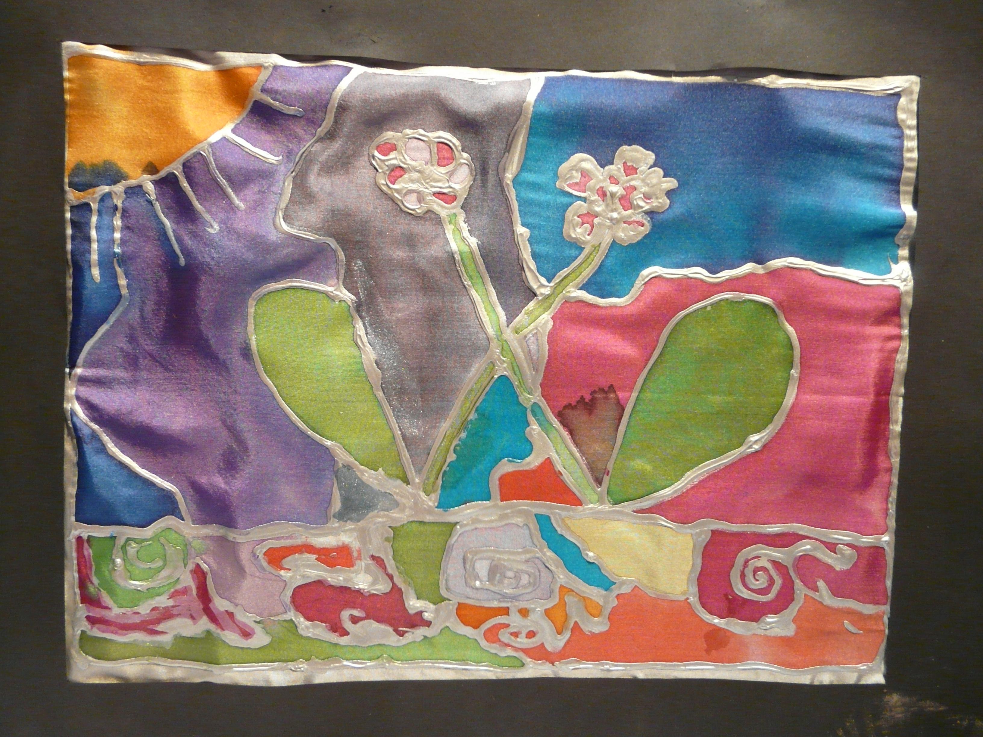 Eden peinture sur soie blog de l 39 atelier autan des couleurs - Comment enlever peinture sur vetement ...
